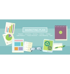 Marketing Plan Concept vector