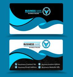 Multi color blue business card template psd vector