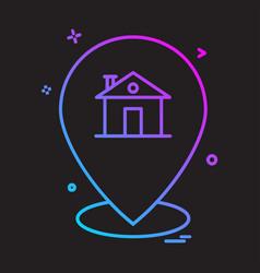 navigation icon design vector image