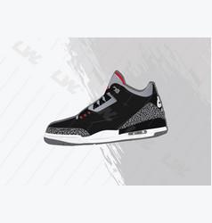 Nike air jordan 3 black og vector
