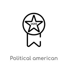 Outline political american elections publicity vector