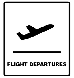 Realistic airport sign - departures vector