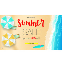 Sales action summer offer get up to fifty vector