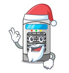 Santa air cooler in cartoon shape vector
