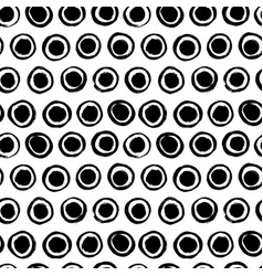 seamless pattern with circles simple background vector image