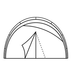 semicircular tent icon outline style vector image