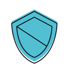 Shield guard isolated icon vector