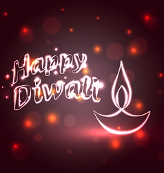 Shiny happy diwali background vector