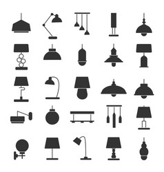 Silhouette of modern interior equipment vector