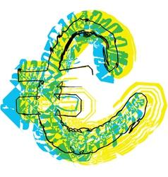Sketch Euro Symbol vector image
