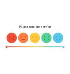 Smiley rate scale emotion emoji icon feedback vector