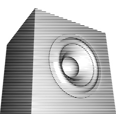 striped sound-system speaker icon isign vector image