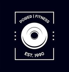 t shirt barbell weights design gym sport vector image