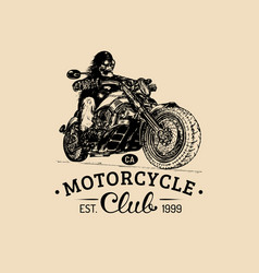 vintage eternal biker for custom vector image