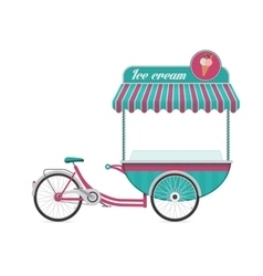 Vintage ice cream bicycle cart bus vector