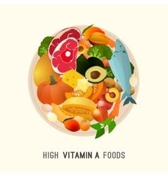 Vitamin A in Food vector