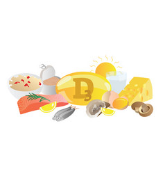 vitamin d3 source collection vector image