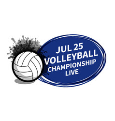 volleyball sport scoreboard spotlight background vector image