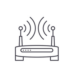 wireless internet line icon concept wireless vector image