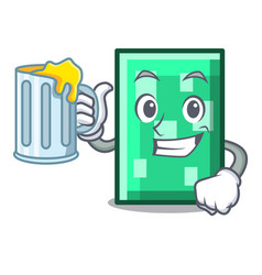 With juice rectangle mascot cartoon style vector