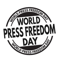 world press freedom day sign or stamp vector image