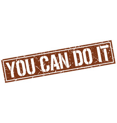 You can do it square grunge stamp vector