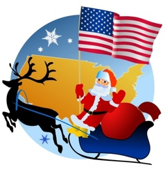 Merry Christmas United States vector image vector image