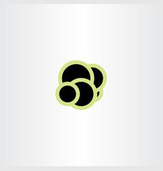molecule atom icon design vector image