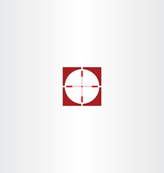red icon sniper target symbol vector image