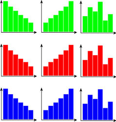 Set of diagram color flat vector image vector image