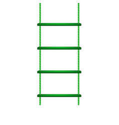 wooden rope ladder in green design vector image vector image