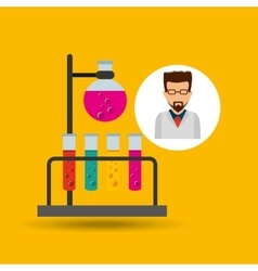 character scientist chemistry laboratory vector image