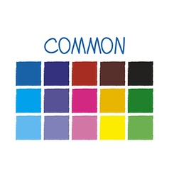 Common Color Tone without Code vector image vector image