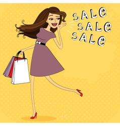 Fasion sale girl vector image