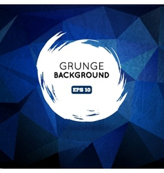 Grunge blue background with splash banner vector image vector image