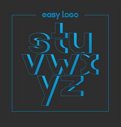 letter s t u v w x y z logo alphabet icon set vector image