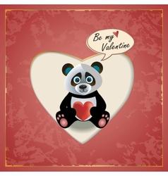 Panda Valentine vector image