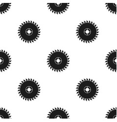 Saw disc icon in black style isolated on white vector