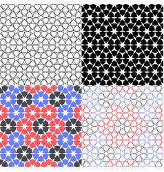 set arabic background with seamless pattern in vector image vector image