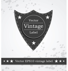 Black shield label with retro vintage styled vector image