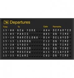 Mechanical departures board vector