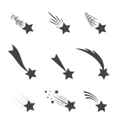 meteorites and comets vector image vector image