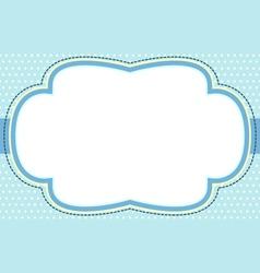 ornate blue bubble frame vector image vector image
