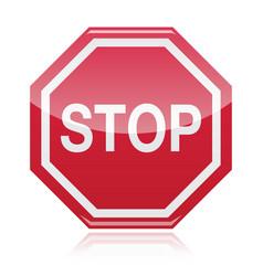 Stop warning road sign vector image vector image