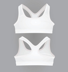 Women white sport bra vector