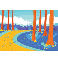 road in woods vector image vector image
