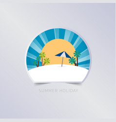 summer greeting card typography flyer template vector image