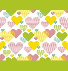 vivid colored love concept icon repeatable motif vector image vector image