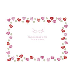 A message frame for valentines day vector