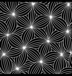 abstract background in zen art style black vector image